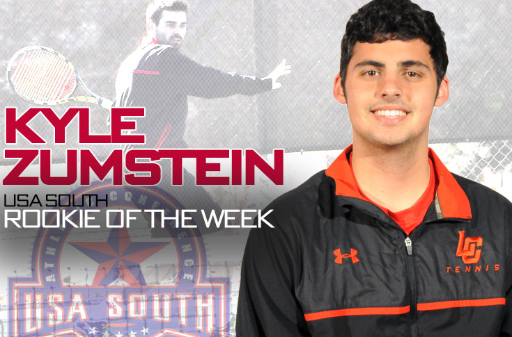 Men's Tennis: Kyle Zumstein named USA South Men's Tennis Rookie of the Week