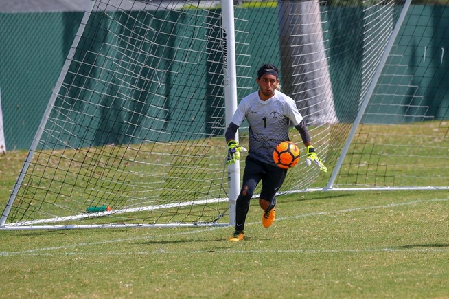 File Photo: Jordan Aldama earns the win in goal for the Falcons