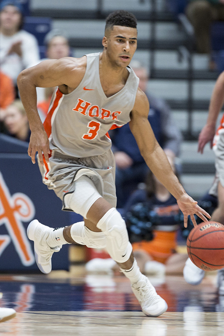 Dante Hawkins, Hope, Men's Basketball Player of the Week 12/26/17