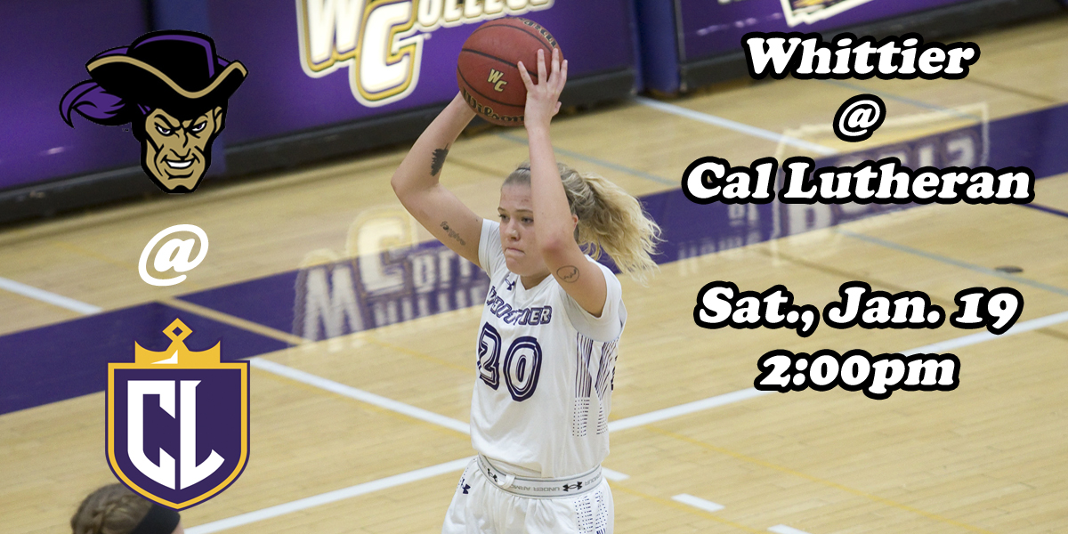 WBB: Whittier vs. California Lutheran (By the Numbers)