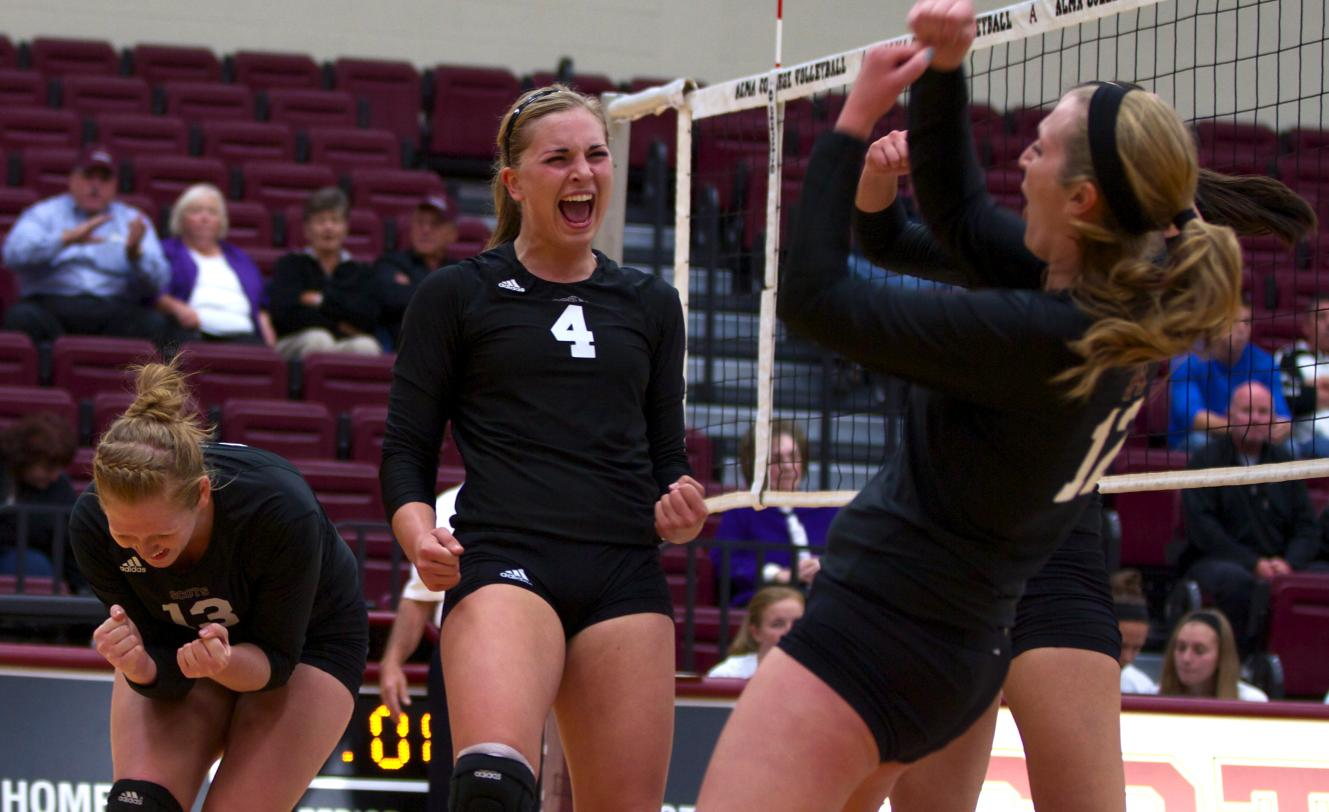 Scots Volleyball comes out on top of host Albion on Wednesday evening, 3-1