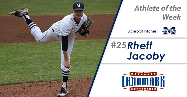 Rhett Jacoby '19 has been named the Landmark Conference Baseball Pitcher of the Week.
