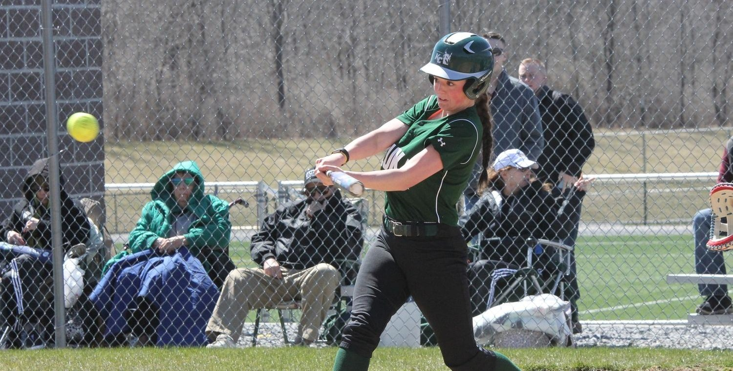 Jessie Hammers (2) hit a 3-run home run in game two for Keuka College