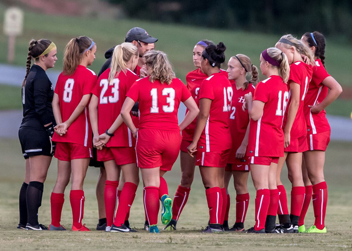 The Huntingdon women's soccer team fell to Birmingham-Southern 1-0 on Saturday night. (Photo by Lisa Pearson)