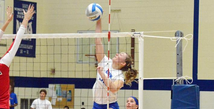 Griffiths double-double leads Volleyball to NACC win at CUC