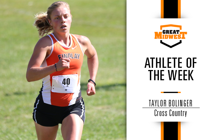Bolinger Named Great Midwest Athlete of the Week