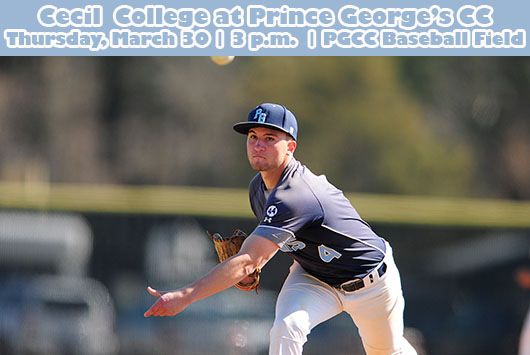 Prince George's Baseball Hosts Cecil College On Thursday