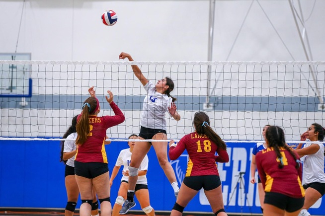 Alexia Torres finished with nine kills in the five-set loss to Pasadena City