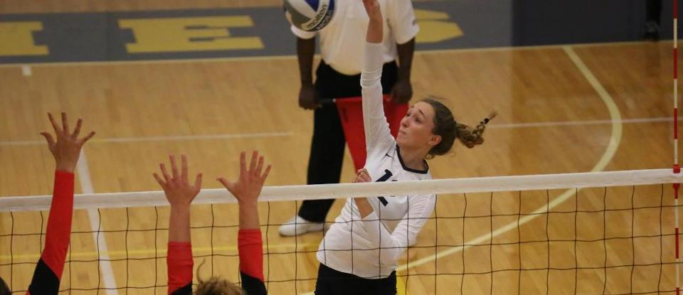 Volleyball Sweeps Earlham, Rallies to Defeat Albion in Saturday Matches