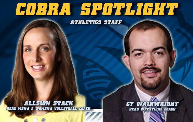 Cobra Spotlight- Allison Stack & Cy Wainwright, Athletic Staff