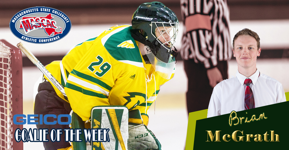 McGrath Named MASCAC Ice Hockey Goaltender Of The Week