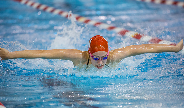 Women's Swimming and Diving Defeats Bridgewater State