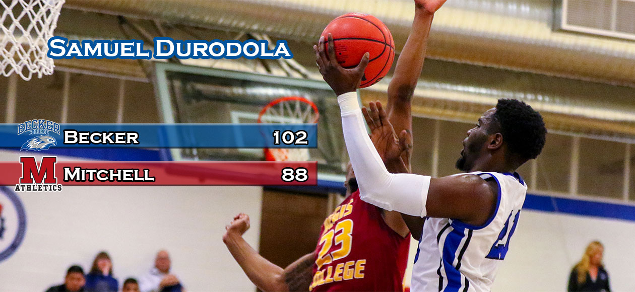 Durodola's 34 points leads Men's Basketball past Mariners, 102-88