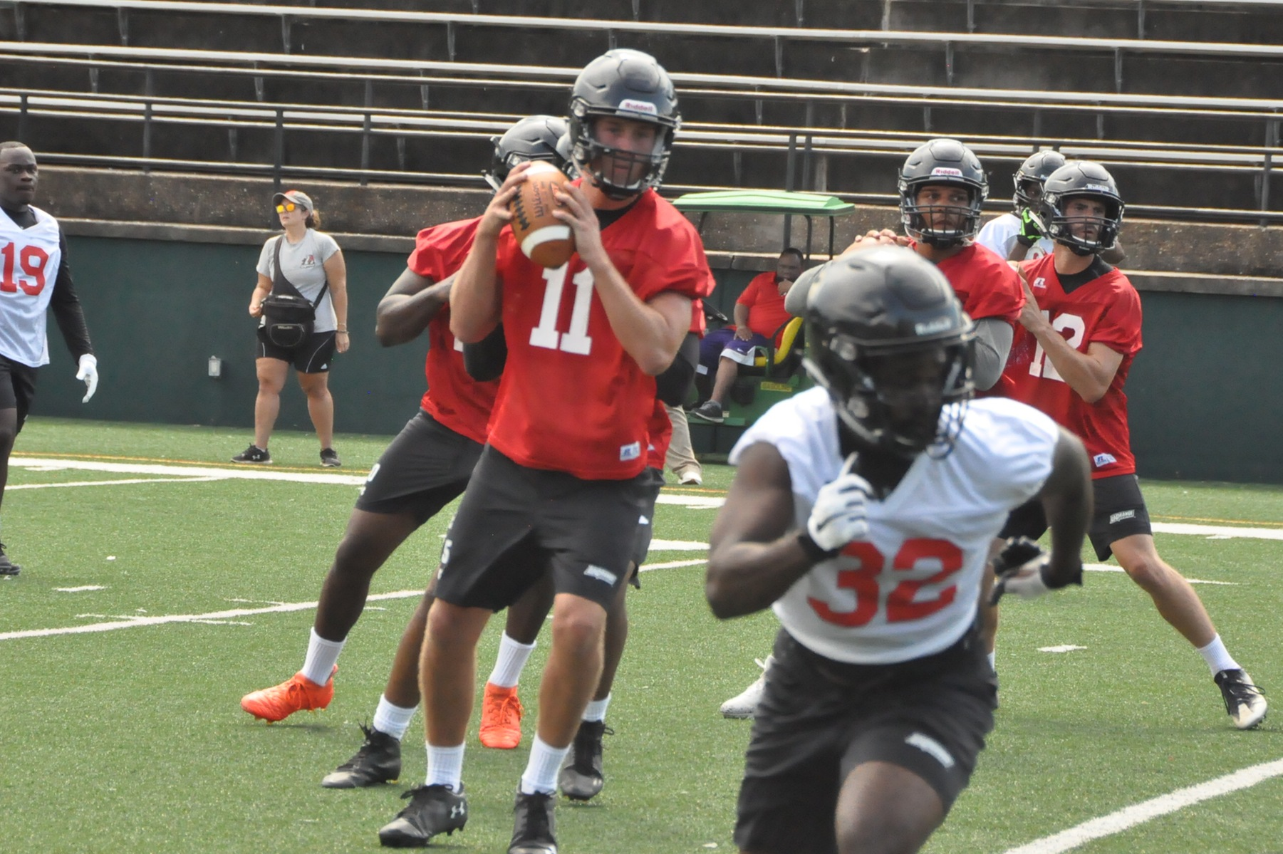 Football: Panthers go through first preseason practice