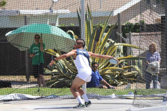 Aaron Martin earned 5919 points in the SoCal Decathlon Championships to finish sixth and qualify for the CCCAA State Championships