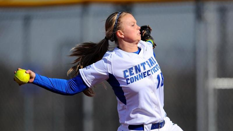 Softball Tops Holy Cross with Six-Run Rally in Seventh