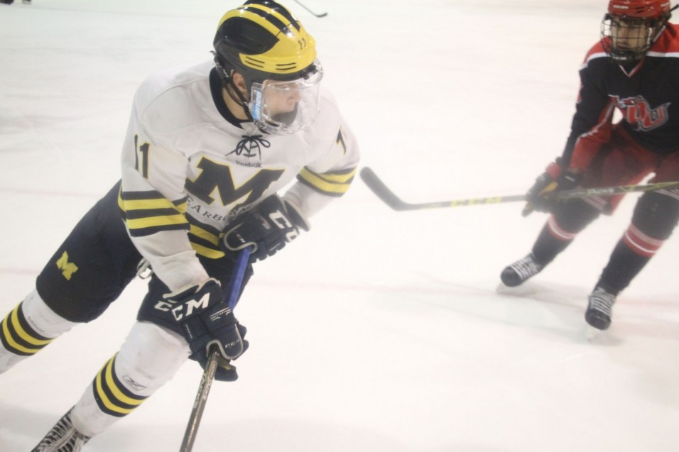 Photo for No. 12 UM-Dearborn falls to No. 4 Davenport in GLCHL Opener