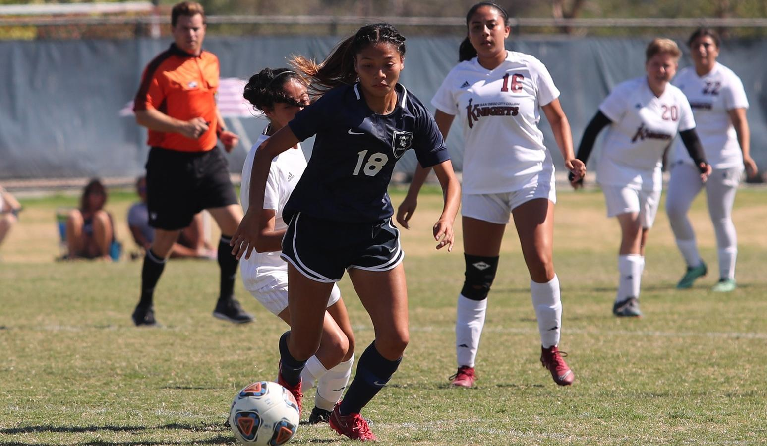 Women's soccer team falls to Las Positas in final tourney game