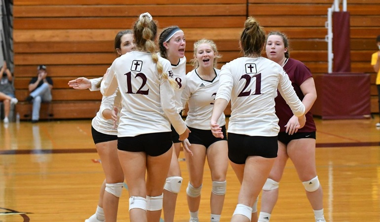 Evangel Volleyball Sweeps Baker to Remain Perfect