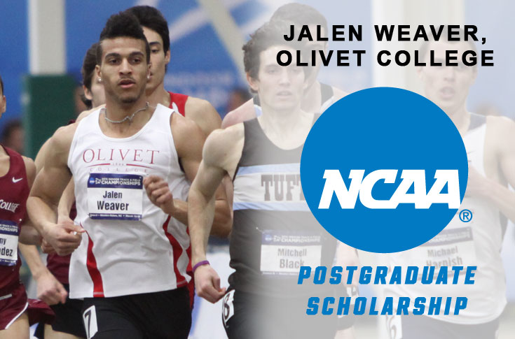Olivet College's Weaver receives NCAA Postgraduate Scholarship