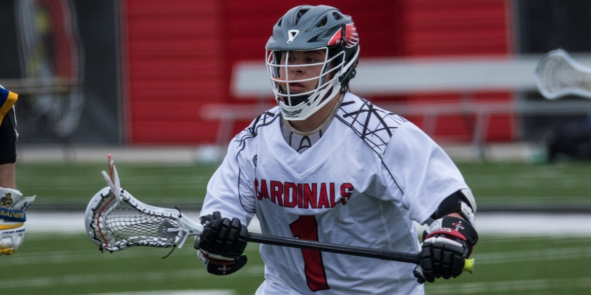 Conner Ludeman leads the Cardinals with 6 goals and 4 assists in the win over Madonna (Photo courtesy of Keepers by Kelly)
