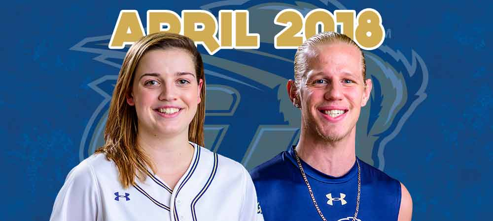 April 2018 - Bison of the Month - Hannah Neild (left) and Gunner Hahn (right)