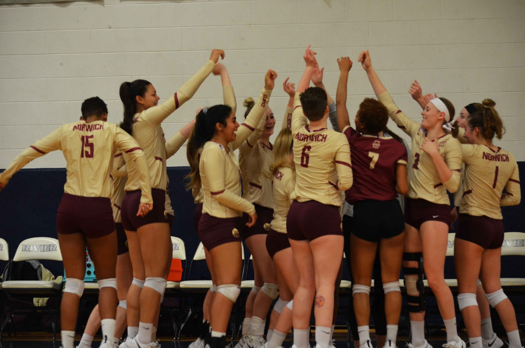 Volleyball: #6 Norwich Falls to #3 Rivier in GNAC Quarterfinal