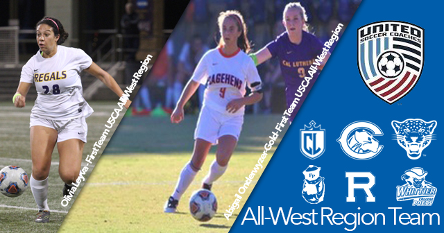 Ten SCIAC Women's Soccer Student-Athletes Secure USCA All-West Region Honors