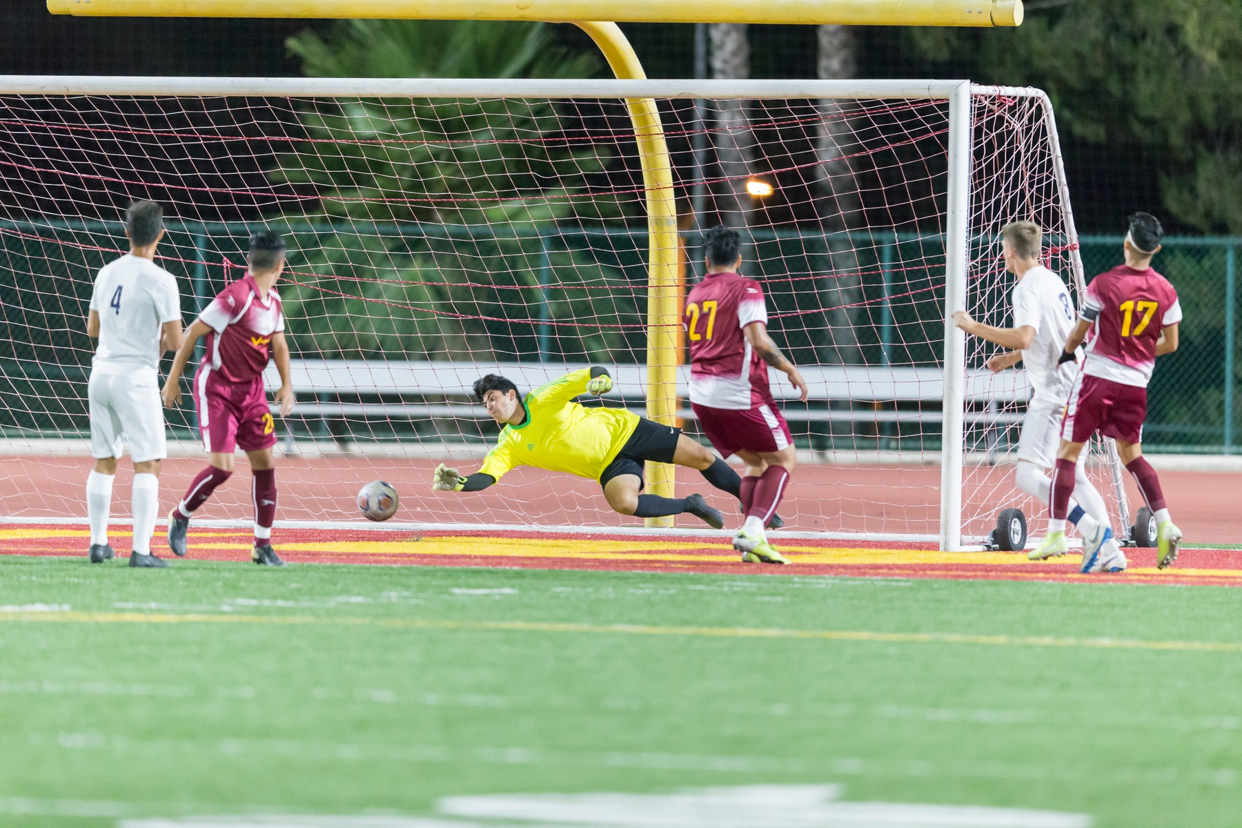 GCC goalie Tejada leads Men's Soccer to two shutout wins and improves to 4-4 this season