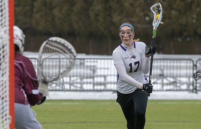Women's Lacrosse Falls to Franklin Pierce, 15-12, Despite Late Comeback
