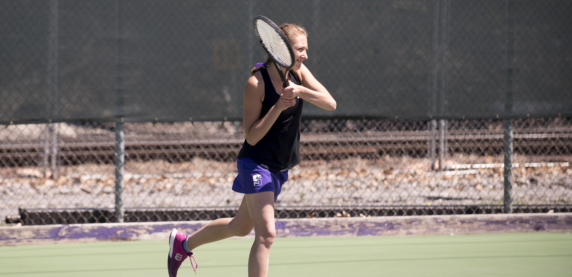 Sophomore Natasha DeNunzio was one of four Royals with wins in both singles and doubles on Tuesday.