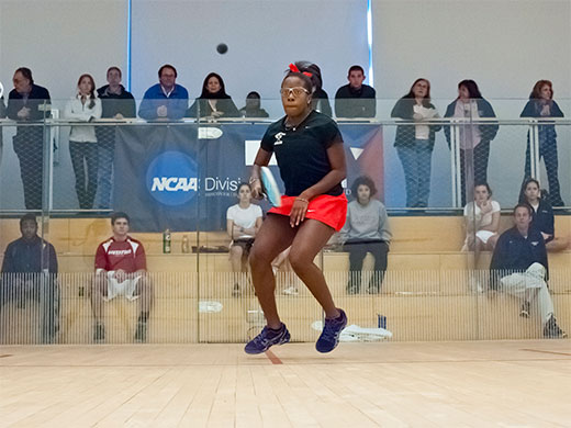 Women's squash takes down NYU to qualify for title match of E Division at CSA championships