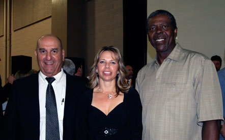 College of the Canyons Athletic Hall of Fame Class of 2009 inductees Al Adeline, Susan Latch, Jesse Boyd.