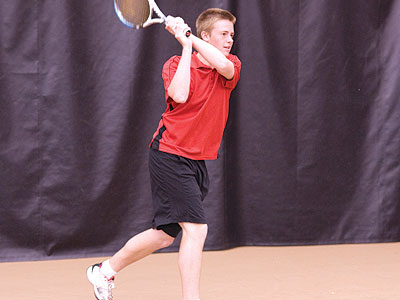 Bulldog men's tennis player Jack Swan