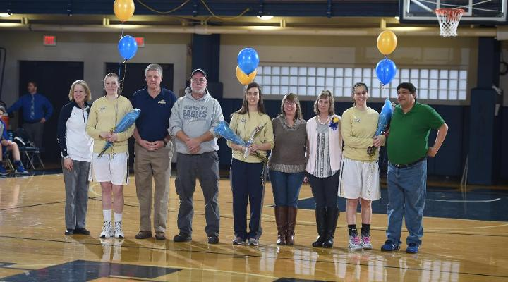 Anstine Commands Offense as Eagles Take 72-50 Win on Senior Day