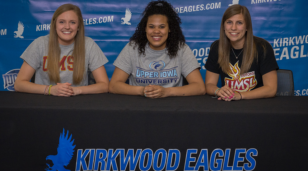 Photo for Volleyball trio sign their Letters of Intent
