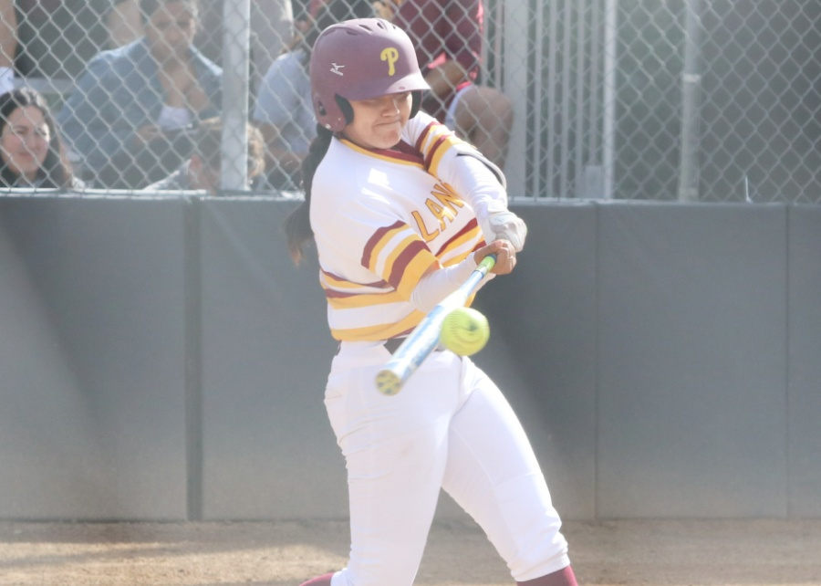 Amanda Flores hit the game-winning single Tuesday in the Lancers win over El Camino, photo by Richard Quinton.