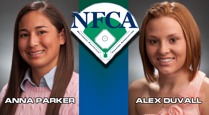 Parker and Duvall Named NFCA Scholar Athletes