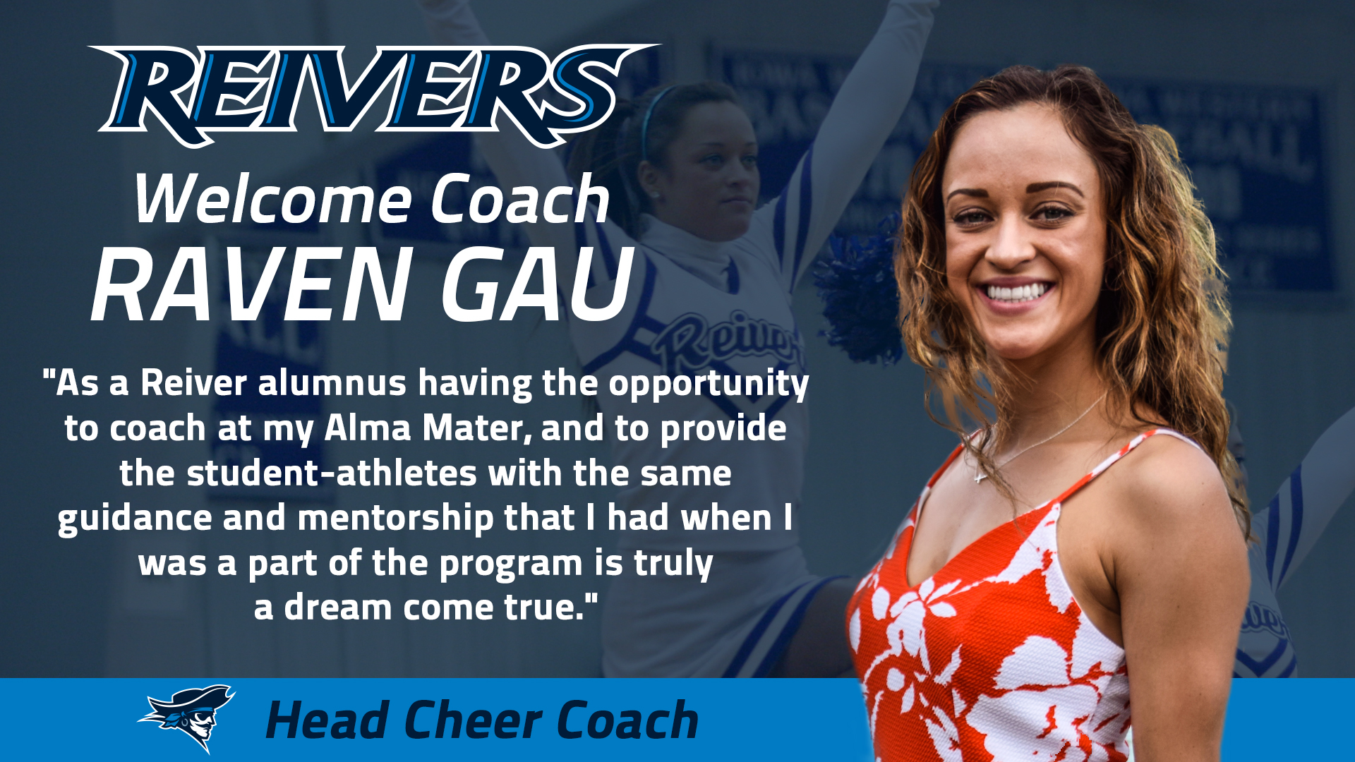 Reivers welcome back Gau as new leader of Cheer Squad!