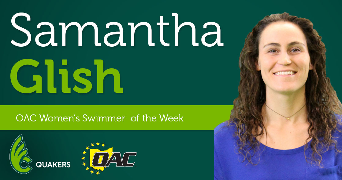 Glish Garners OAC Women's Swimmer of the Week Honors