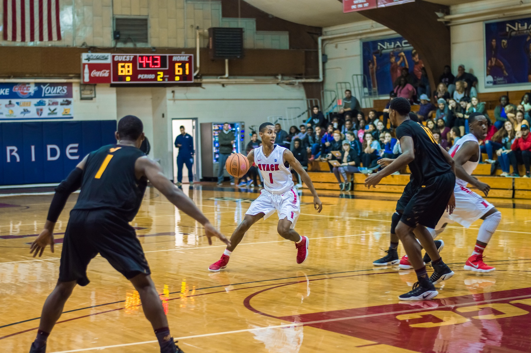 Ritchie Leads Warriors Past Dominican with 23 Points and 5 Assists on Senior Day