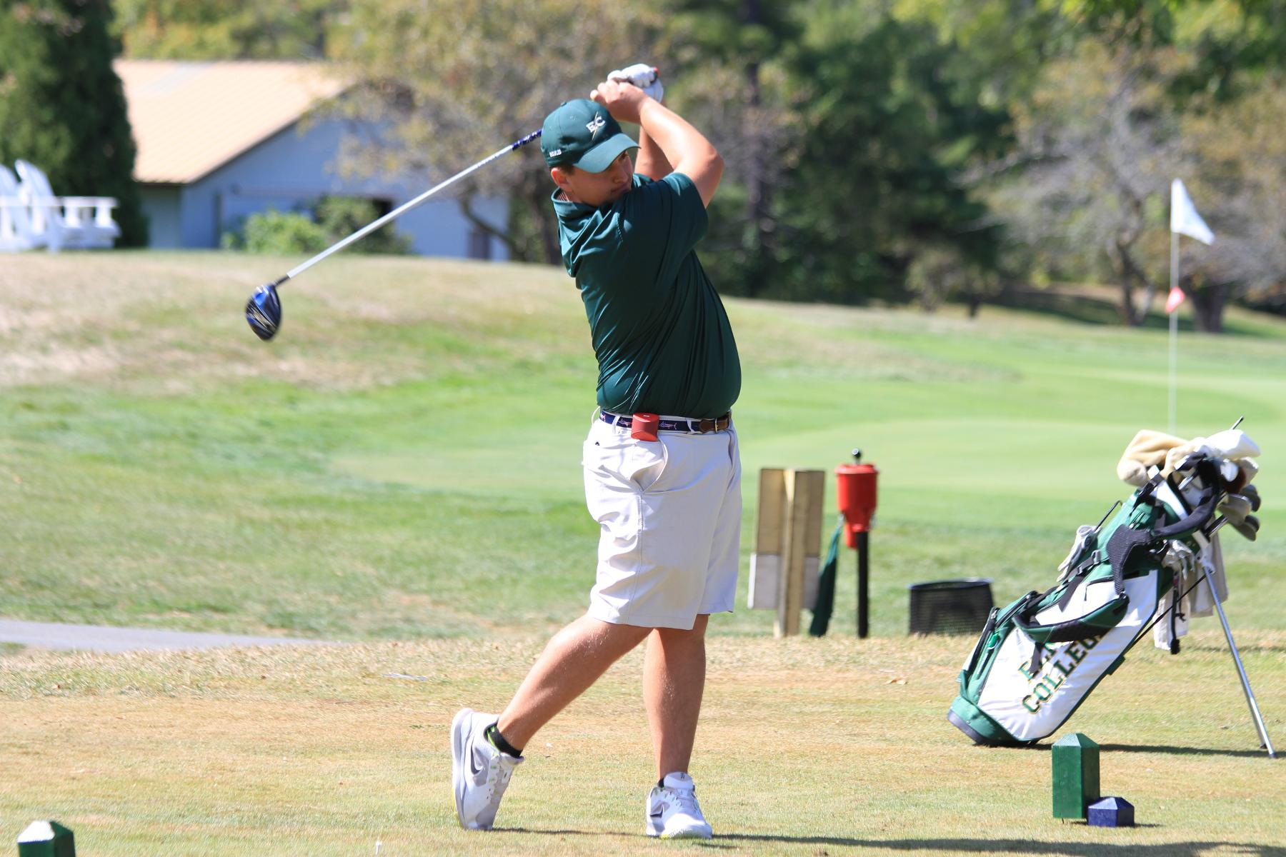 Men's Golf 17th After 18 Holes At NEIGA Championship