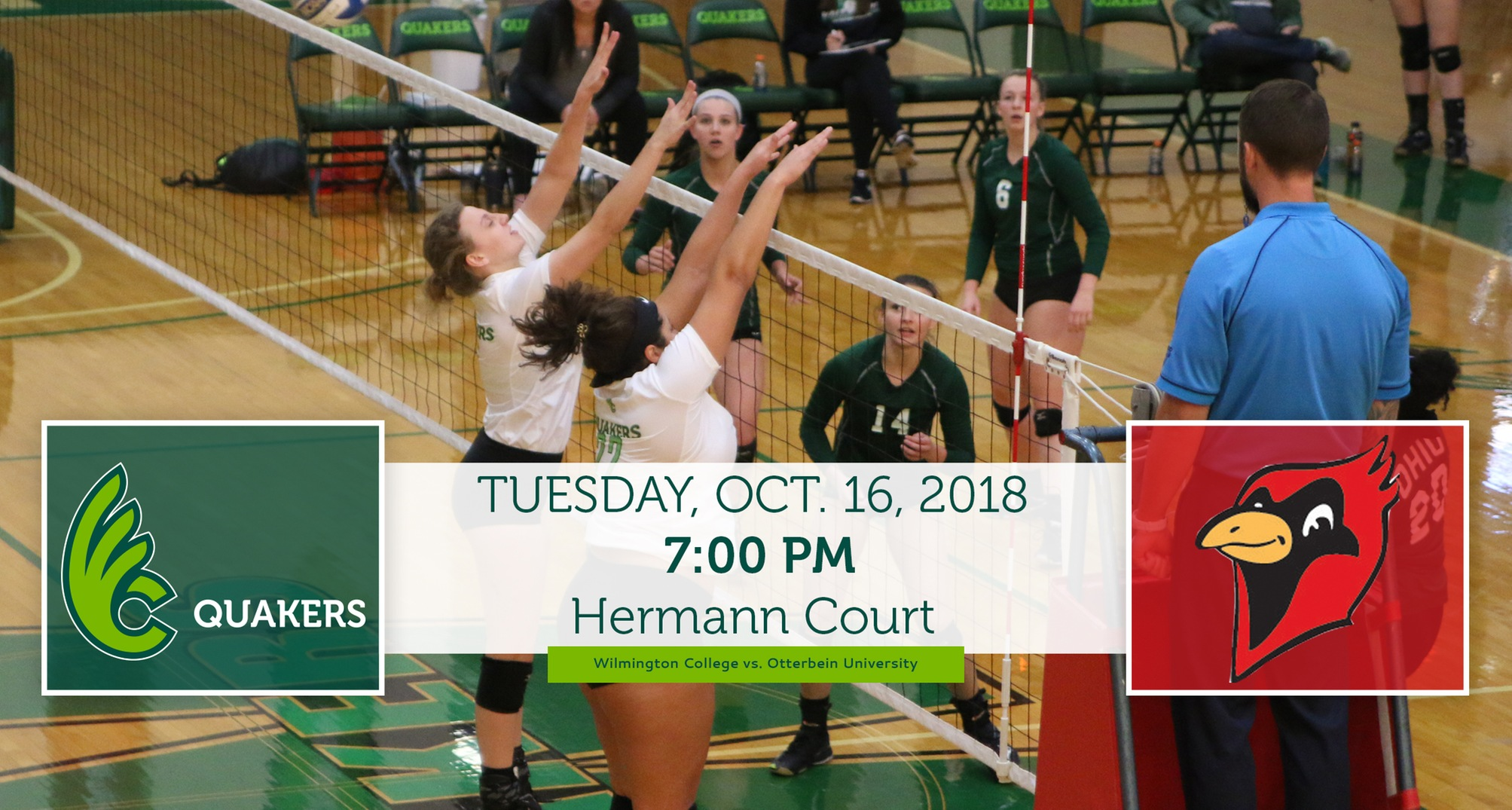 Volleyball Hosts OAC Leader Otterbein on Tuesday