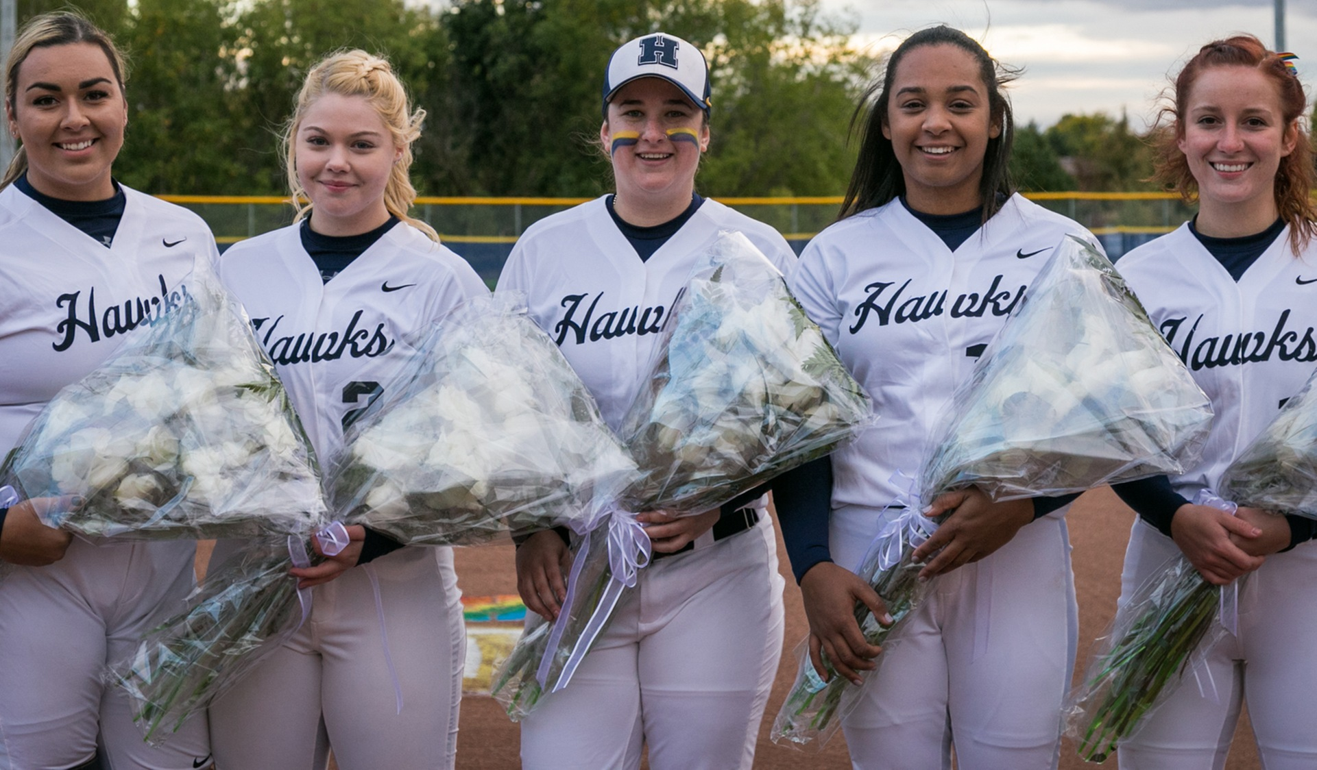 MEMORABLE NIGHT FOR SENIORS AS HAWK SWEEP STING TO END REGULAR SEASON 17-7
