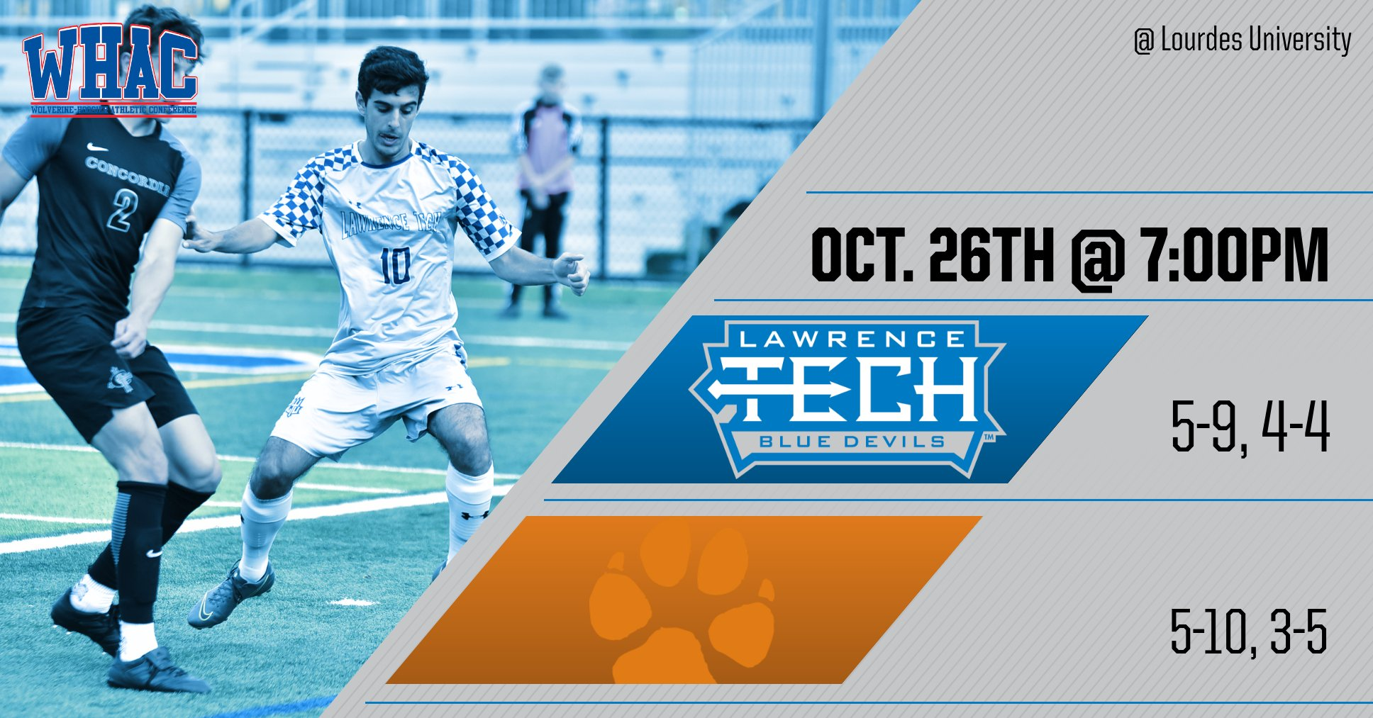 The Push for the WHAC Tournament Continues This Saturday vs Lourdes (Ohio) University for the Men's Soccer Team