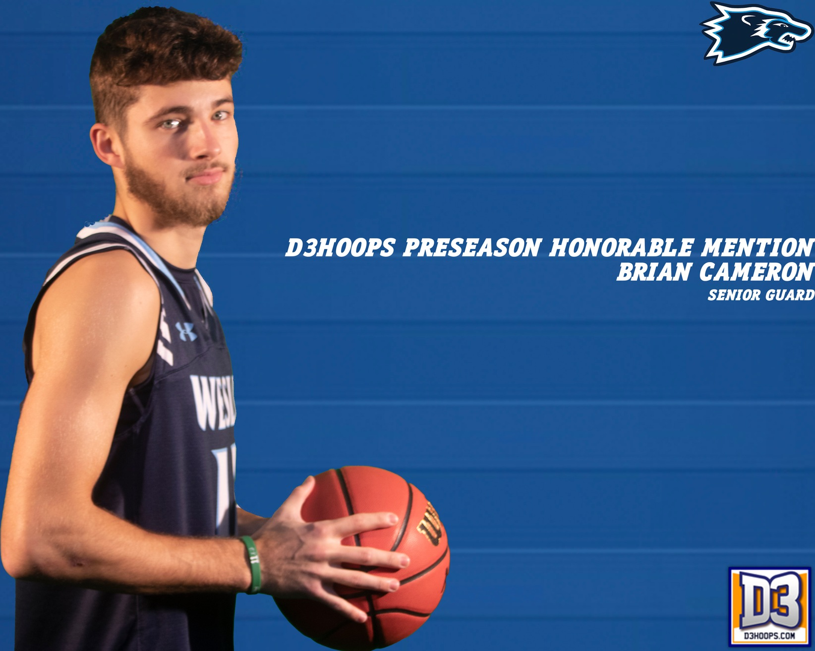 Men's Basketball Brian Cameron Earns D3Hoops Pre-Season Honorable Mention