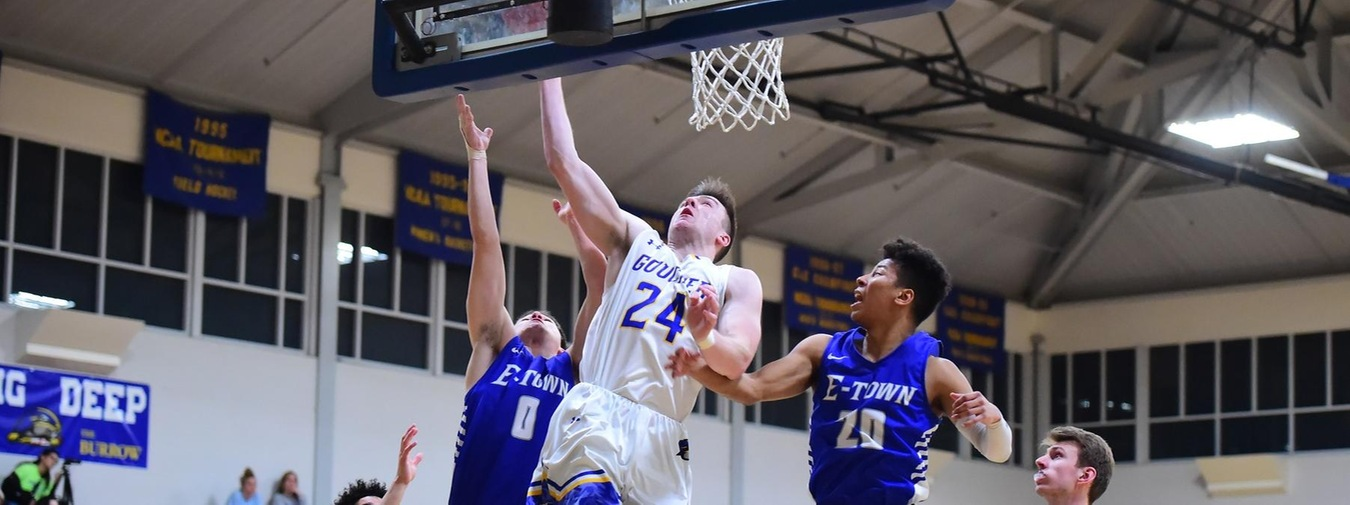 Goralski Tallies Career-High In Points And Rebounds, And Second Double-Double In Loss To E-town For Goucher Men's Basketball