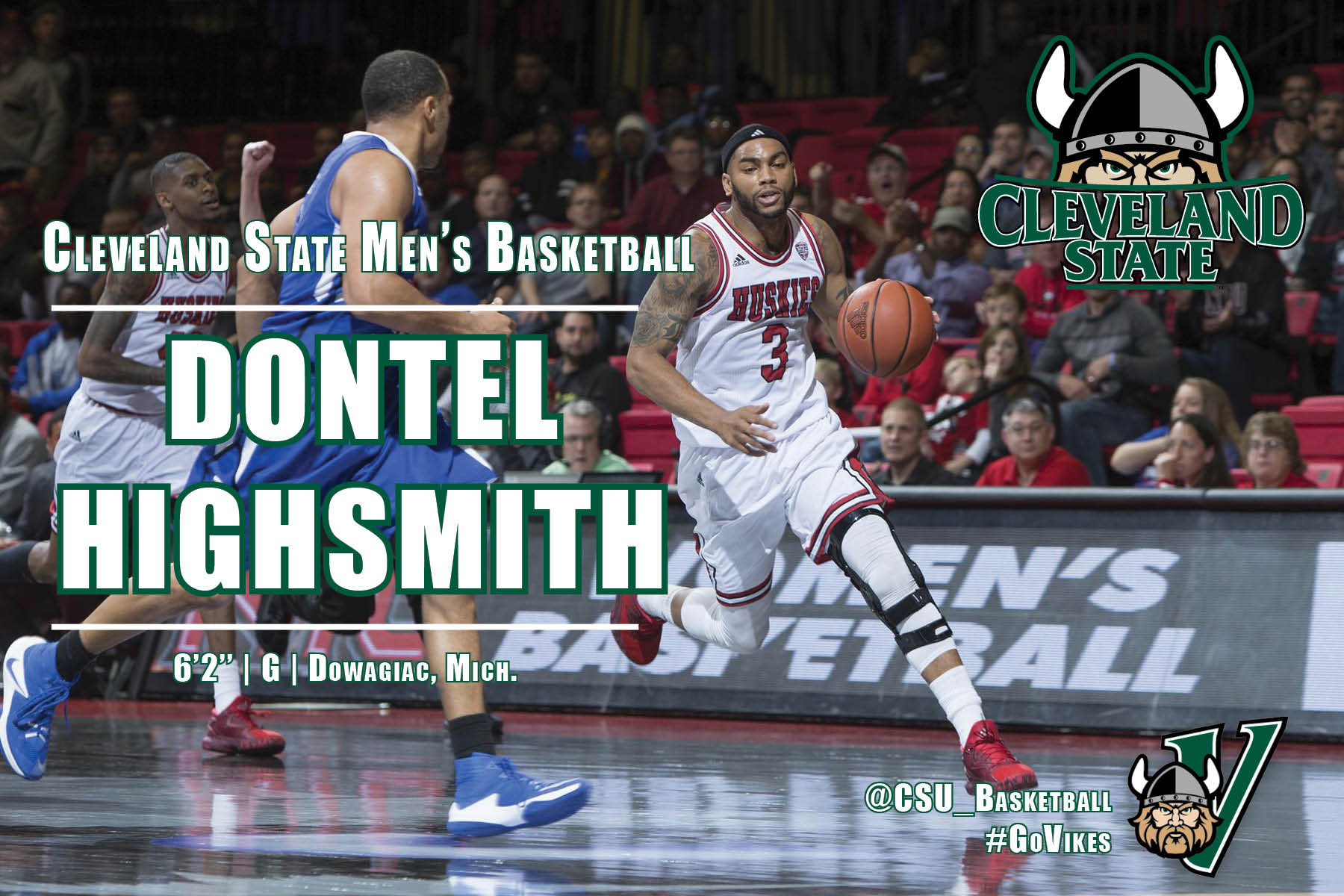 Dontel Highsmith Joins Cleveland State Basketball Program