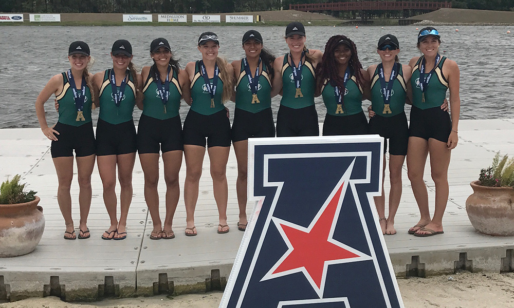 ROWING MEDALS IN A PAIR OF RACES, FINISHES THIRD AT THE AMERICAN ATHLETIC CONFERENCE CHAMPIONSHIP