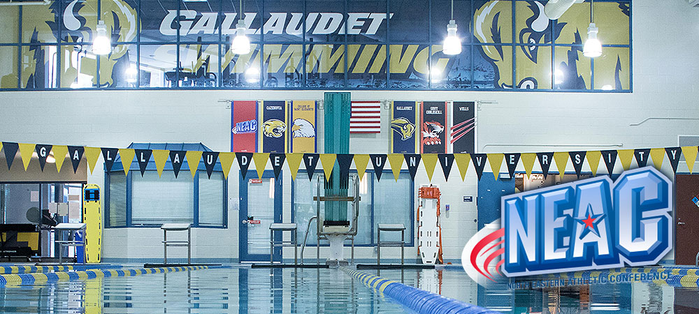 Gallaudet swim teams prepare for 2017 NEAC championships at Cazenovia this weekend